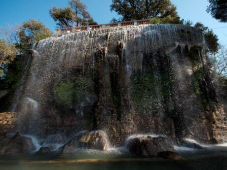 Visiting the Castle Hill Parc in Nice will reward you with a tranquil oasis in the city, with gorgeous views like this bit waterfall
