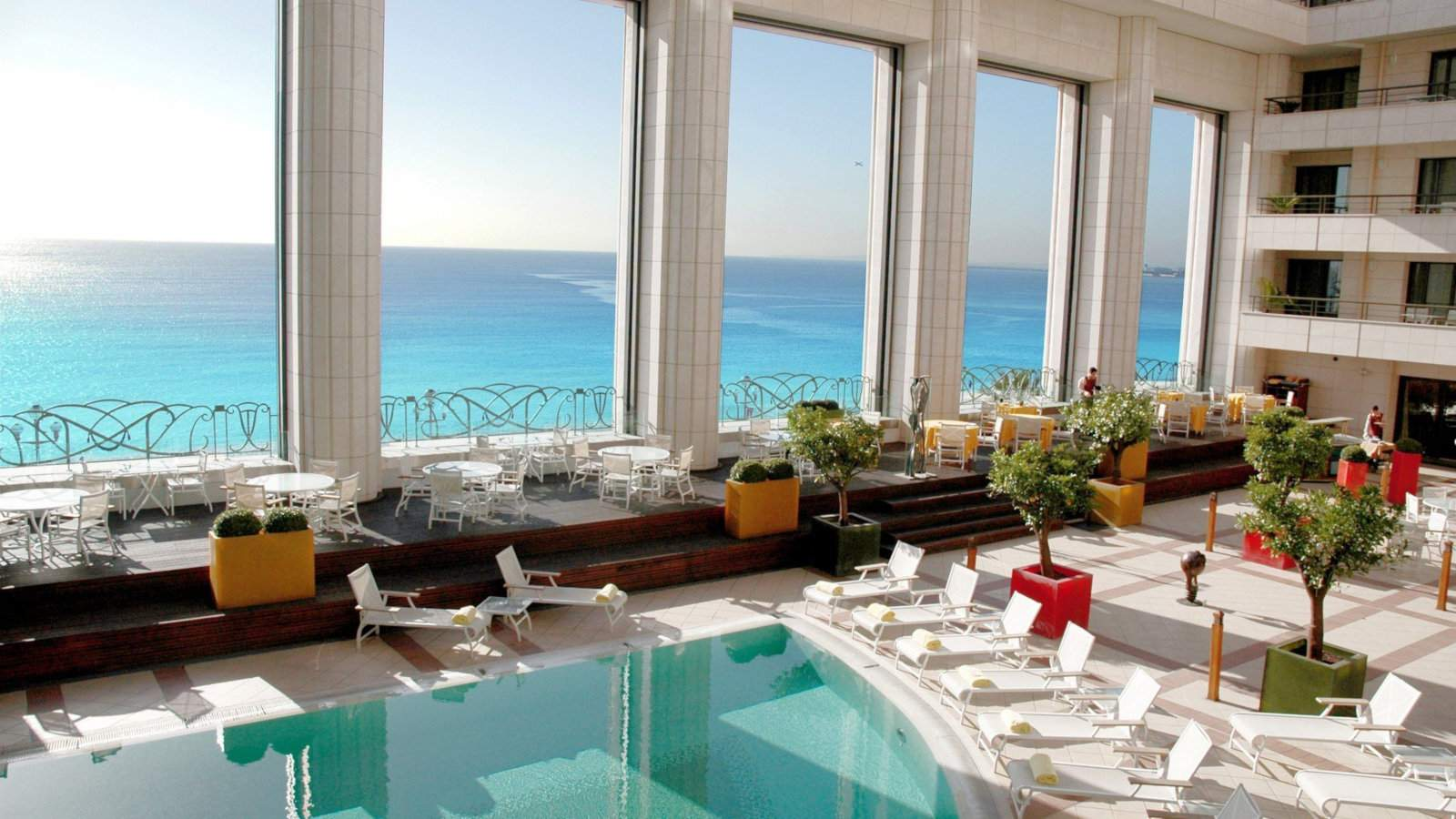 For luxurious and gay friendly accommodation, you can't go past the Hyatt Regency Nice