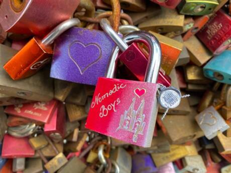 We left our own love lock on Hohenzollern Bridge in Cologne, see if you can find it when you visit!
