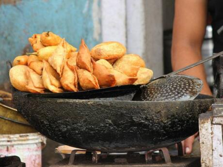 Samosas are a delicious deep-fried pastry from India that can be enjoyed as an appetiser to a meal or just for a yummy snack
