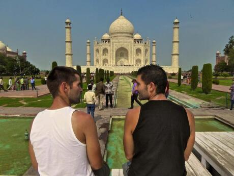 The Taj Mahal is one of India's most famous sites, plus it's super romantic so gay couples should definitely visit
