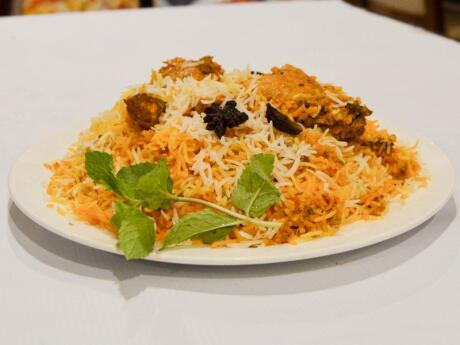Instead of curry with rice, Biryani from India is made by cooking curry and rice separately then cooking them again together