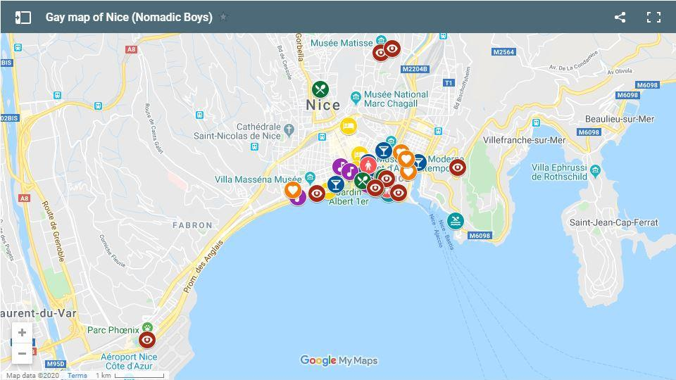 Find out all the best gay bars, clubs, restaurants, saunas, beaches and more in Nice with our gay map!