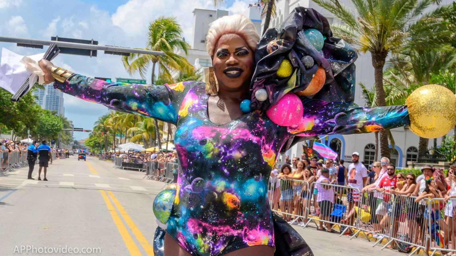 If you're in Miami during Pride then you have to experience the incredible pride parade and all the colourful entrants!