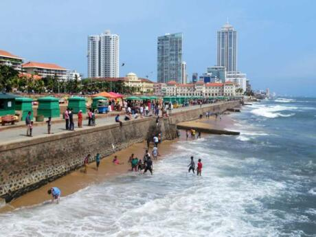 Galle Face Green is a lovely spot in Colombo to relax and enjoy the beach