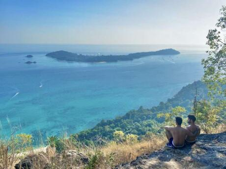For the best views of Koh Lipe you must head to nearby Koh Adang and hike up to the viewpoint