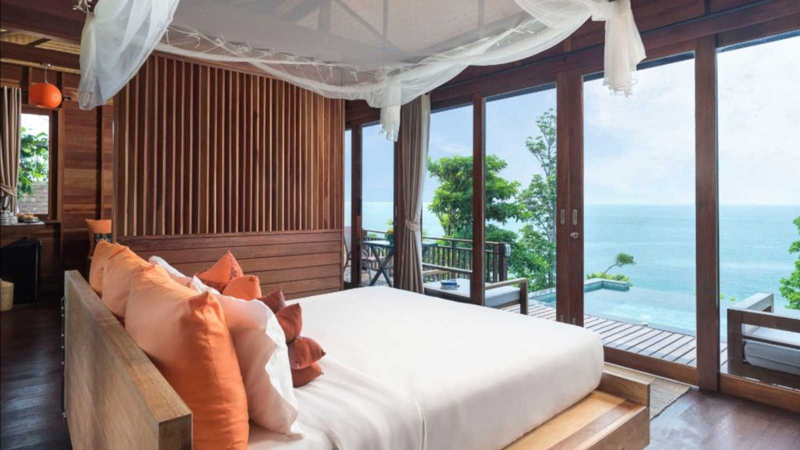 The Serendipity Resort on Thailand's Koh Lipe is super romantic with some villas having private infinite pools on the balcony