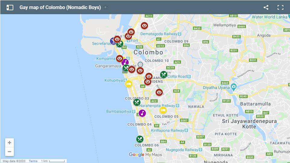 Our gay map of Colombo showing all our favourite gay friendly hotels, bars, clubs, restaurants and things to do in Sri Lanka's capital city