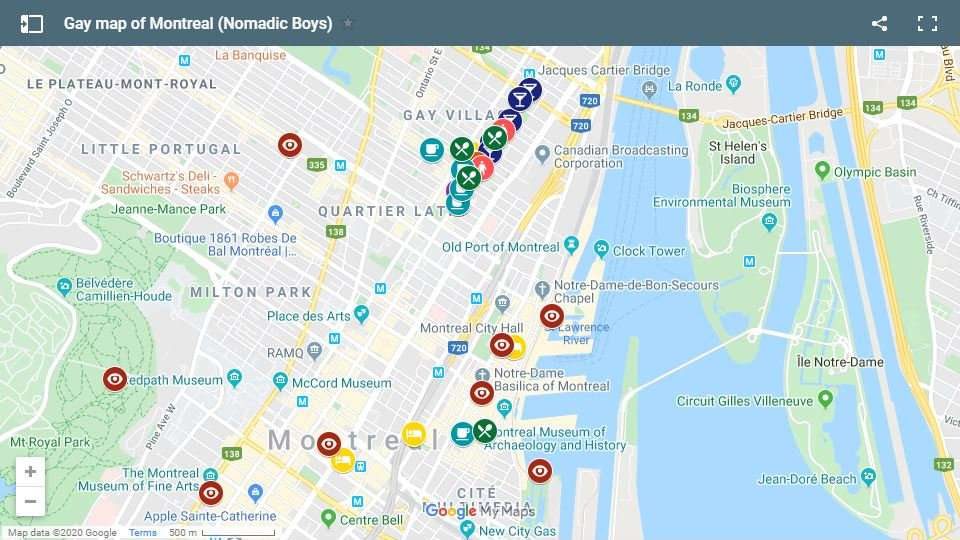Check out our gay map and complete gay guide to Montreal with all the best gay bars, clubs, hotels, things to do and more!
