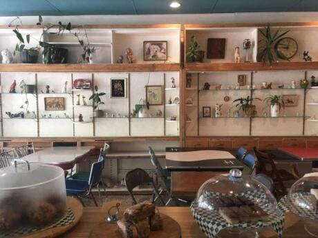 Le Cagibi is a queer space in Montreal with quirky decor, excellent coffee and a completely vegetarian (with some vegan options) seasonal menu