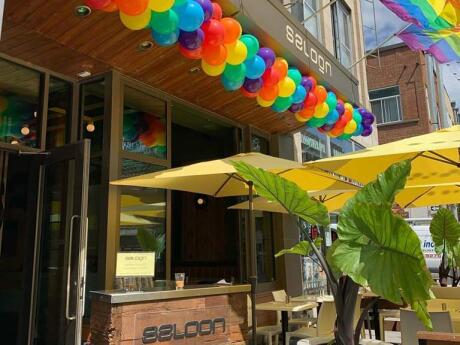 Le Saloon Bistro Bar is a gay institution in Montreal's gay village, with delicious cocktails as well as yummy meals