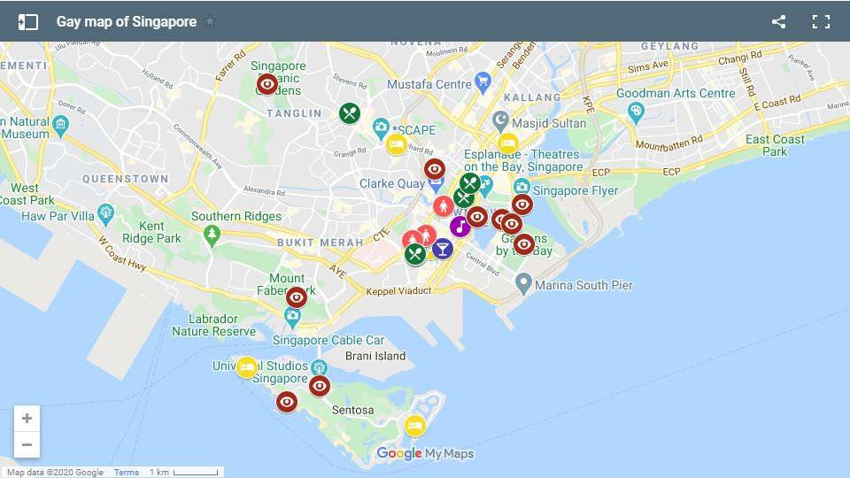 Find all our favourite gay hotels, bars, clubs, restaurants and more on this gay map of Singapore