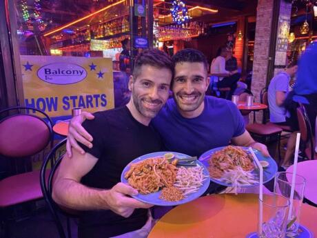 Balcony is a fab gay bar and pub in Bangkok's gay district that has a huge and delicious food menu to enjoy