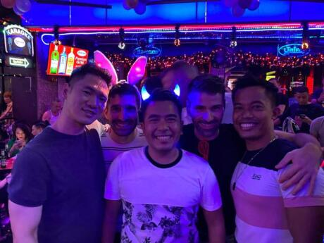 We always end up spending some time at Balcony bar when we're visiting the gay street of Bangkok