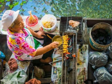 Visiting a traditional floating market is one experience you can't miss out on when in Bangkok