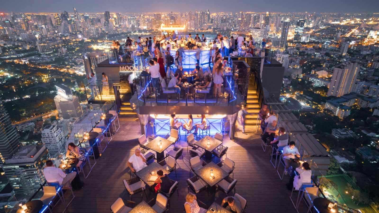 The Banyan Tree hotel in Bangkok is close to the gay neighbourhood and has an incredible rooftop restaurant and bar!