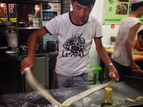 We learned how to make Biang Biang Noodles, a local Xi'an dish, while we were visiting the city