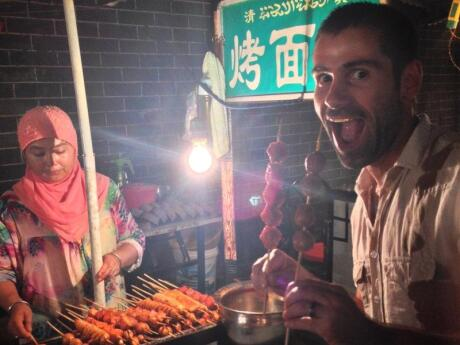 The area around Xi'an's Bell and Drum Towers has a large Muslim-Chinese population and some of the best street food stalls ever!