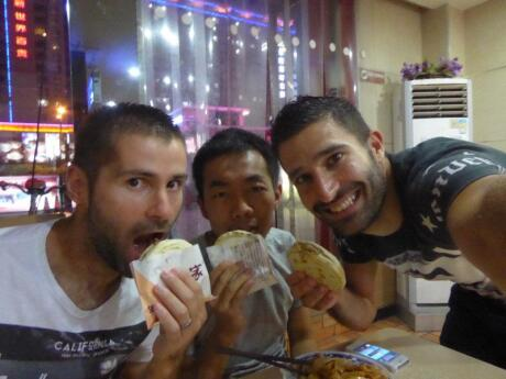 """Rou Jia Mo is a type of Chinese """"hamburger"""" that we couldn't get enough of in Xi'an!"""