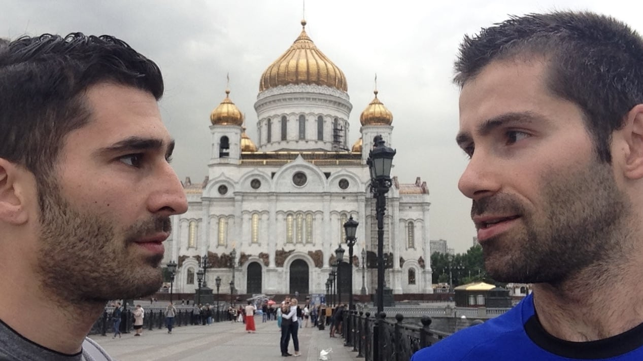 Gay couple in Moscow