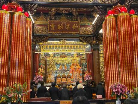 A visit to the Tianhou Temple is a must when you're in Taipei, if you can find it!