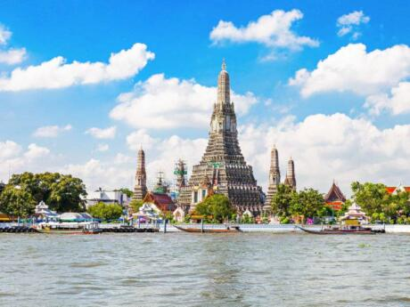 Wat Arun is one of the most recognisable images of Thailand, and you can get an amazing view of the city by climbing the tallest tower