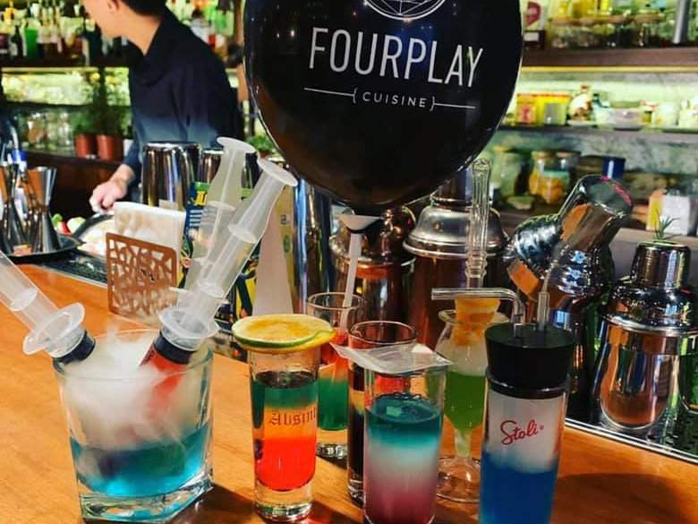 Fourplay is a playful gay bar where you can try some fun drinks or have a cocktail whipped up specifically for you