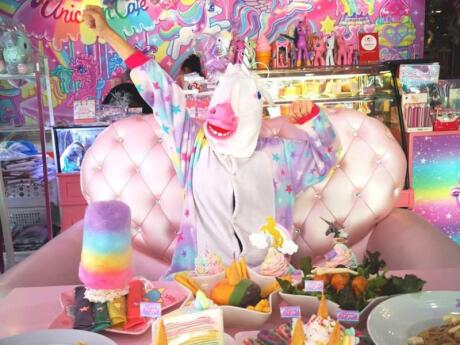 For the ultimate gay rainbow experience in Bangkok, you can't miss out on the Unicorn Cafe in the gay neighbourhood of Silom Soi