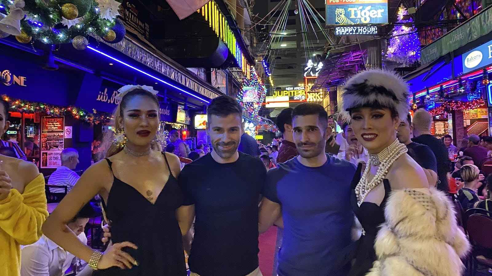 Bangkok's fabulous gay neighbourhood is located in Silom Soi 4 and 2, with lots of gay bars, clubs and restaurants