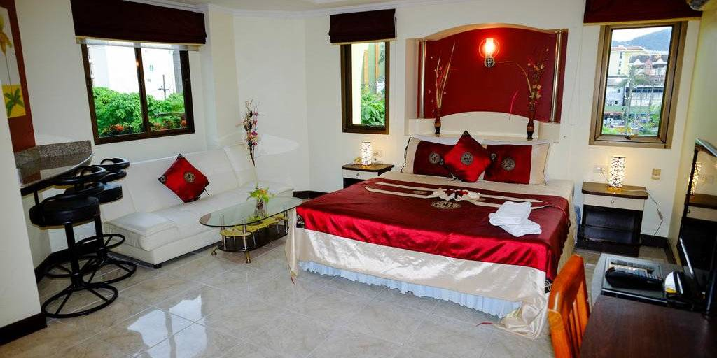 The Adonis Guesthouse is a lovely budget accommodation choice in the heart of Phuket's gay Paradise Complex