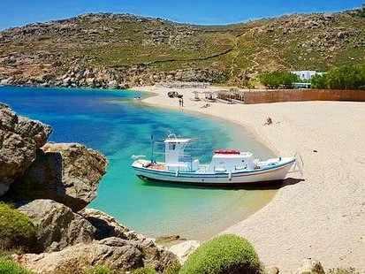 Agrari gay beach is a more low key beach in Mykonos