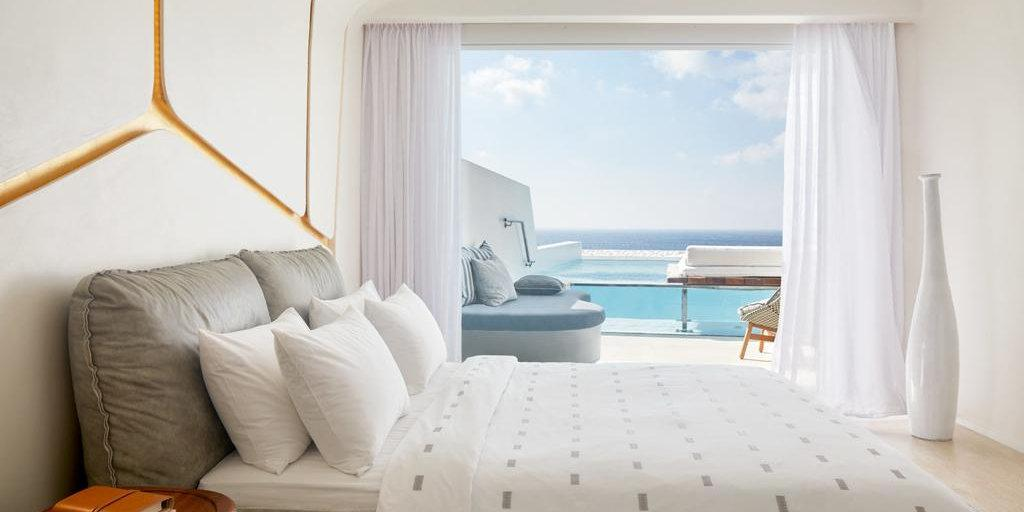 Cavo Tagoo is one of the most luxurious and gay friendly hotels on the island of Mykonos