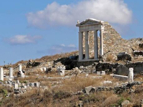 While in Mykonos make sure you also explore nearby Delos Island, where the Greek deities Apollo and Artemis were said to have been born