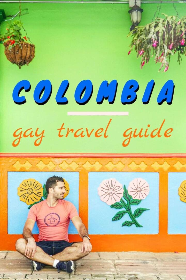 This is Nomadic Boys gay travel guide to Colombia Pinterest pin