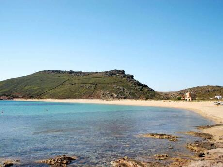 Head to the far end of Panormos Beach if you want to enjoy some nude sunbathing away from the families