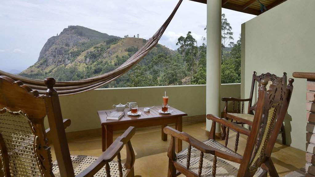 Zion View Ella Green Retreat features hammocks on the balcony to enjoy those gorgeous views