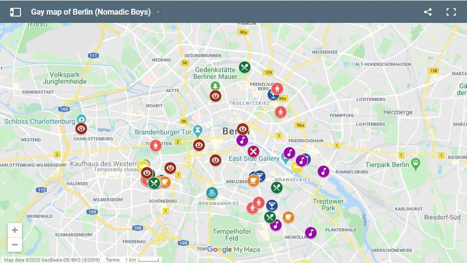 Check out our gay map of Berlin with all the coolest gay hotels, gay bars, clubs, cafes and more!