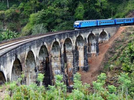 The Nine Arches Bridge in Ella is a famous site in Sri Lanka because it's built without the use of steel!