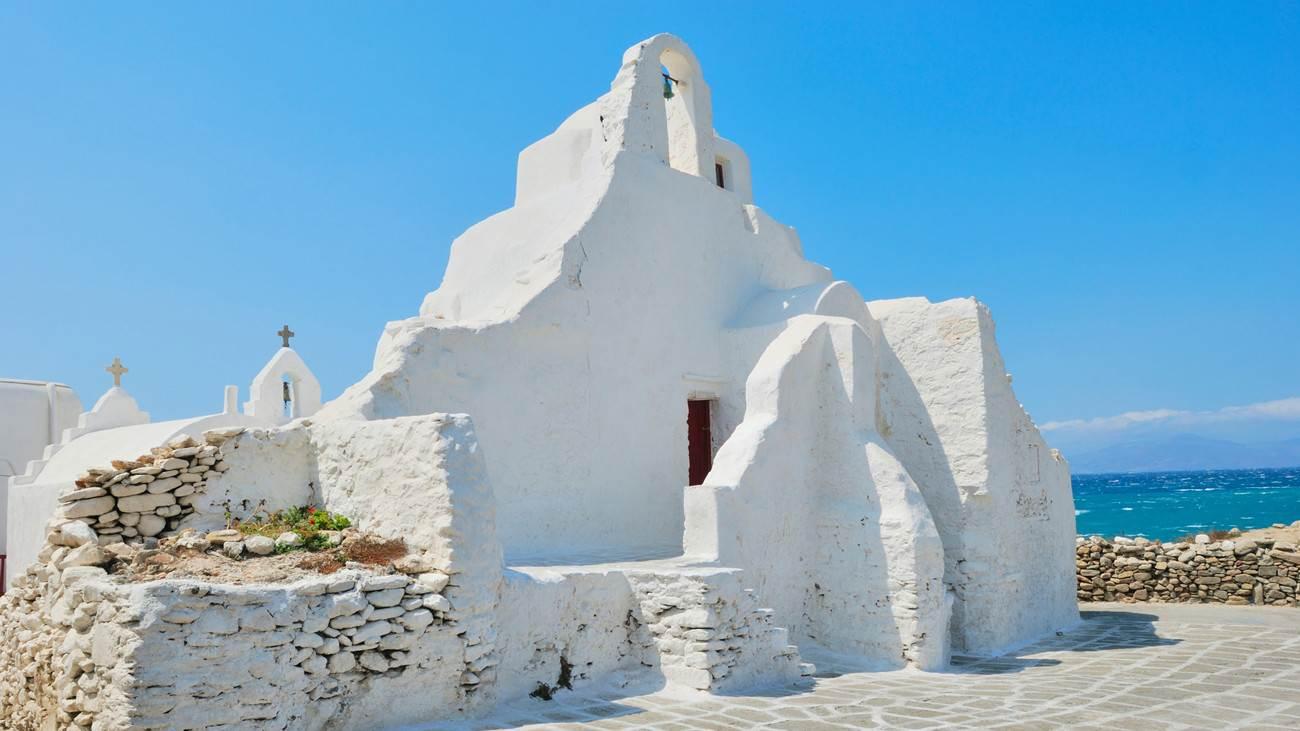 Paraportiani church in Mykonos is a very popular gay cruising spot