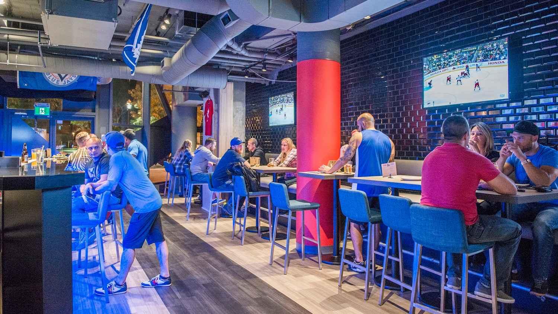 Striker sports bar is a bar for LGBTQ sports fan in Toronto