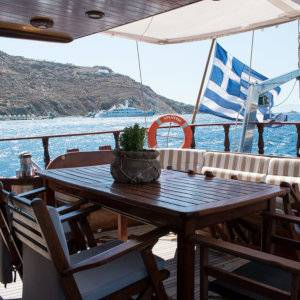 One of the most romantic things you can do on Mykonos is go for a sunset cruise