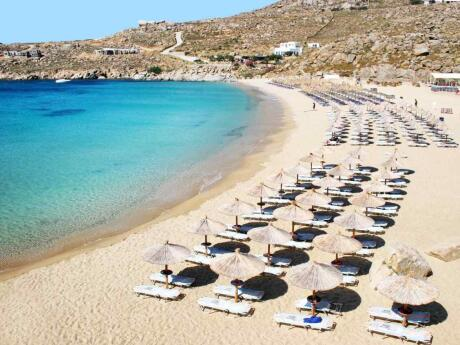 Super Paradise is the official gay beach of Mykonos