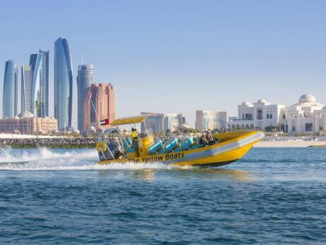 Take a speedboat tour to see Abu Dhabi from a fun and different perspective