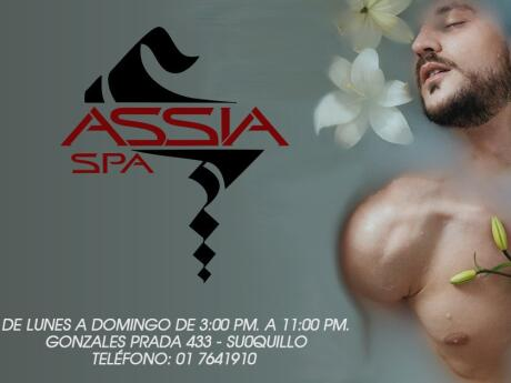 Assia is a gay spa in Lima, offering massages and spa packages