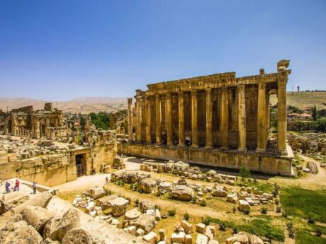 The ancient Roman temples at Baalbek in Lebanon are a fascinating sight to get a glimpse into Lebanon's history