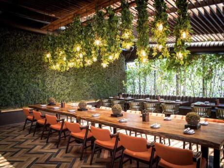 O Filini Gardens é um restaurante muito bonito em Abu Dhabi que serve deliciosa culinária italiana