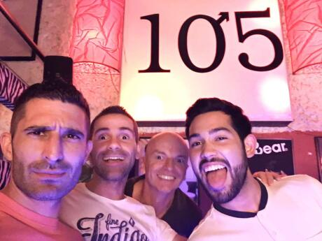 Out in gay bar 105 with our friends in Santiago