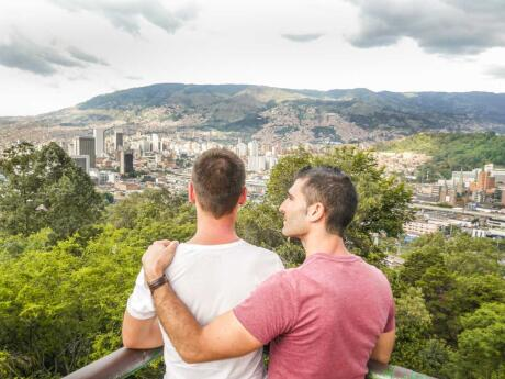 View of the city of Medellin by Nomadic Boys, gay couple Stefan and Sebastien