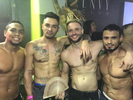A group of hot guys partying at Envy club in Panama city