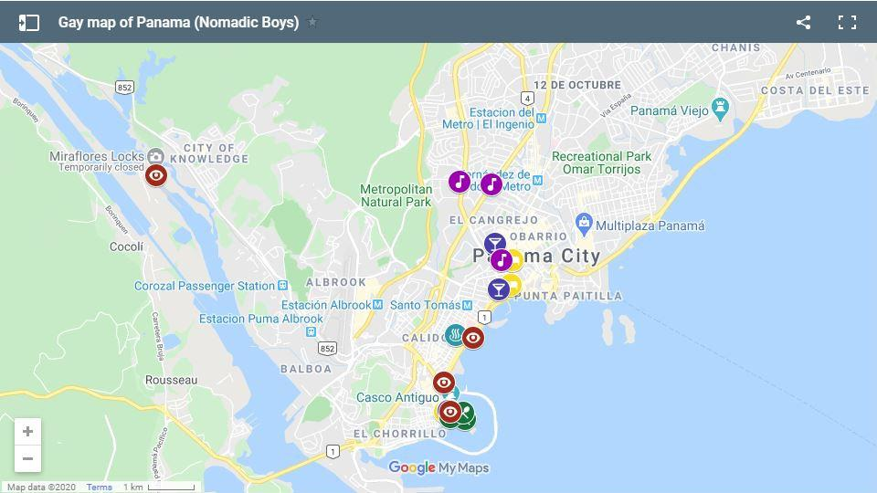 Here's our gay map of Panama City to help you plan your own fabulous stay